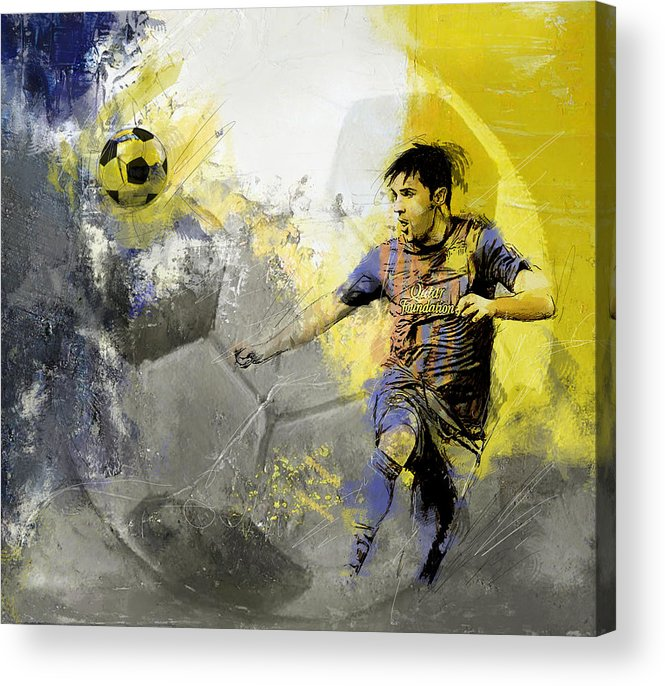 Sports Acrylic Print featuring the painting Football Player by Catf