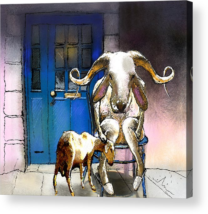Fun Acrylic Print featuring the painting Happy Eid Son by Miki De Goodaboom