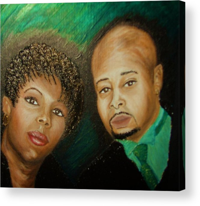 Acrylic Acrylic Print featuring the painting Lovers And Friends by Keenya Woods
