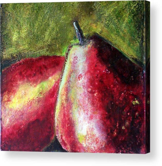 Fruit Acrylic Print featuring the painting A Pear by Karla Phlypo-Price