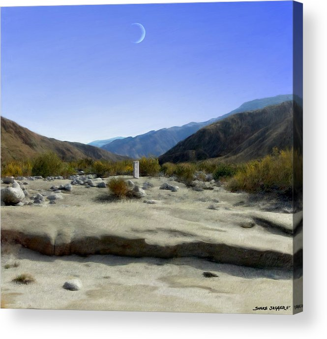 Desert Acrylic Print featuring the digital art Alignment by Snake Jagger