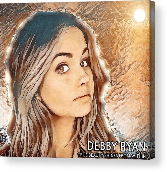 Deborah Ann Ryan Acrylic Print featuring the digital art Debby Ryan Golden Beauty by Robert Radmore