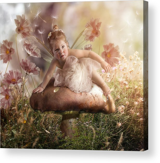 Elf Acrylic Print featuring the photograph Elf Baby II by Cindy Grundsten