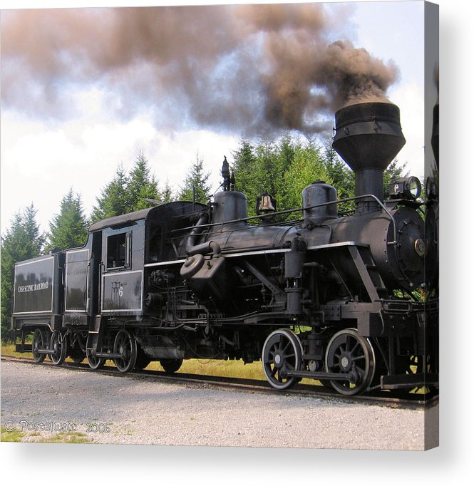 Heisler Steam Engines Acrylic Print featuring the photograph Heisler Steam Engine Number 6 by Carolyn Postelwait