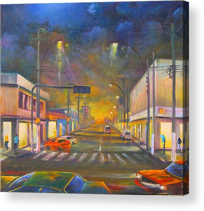 Abstract Acrylic Print featuring the painting Iguaba Grande by Leomariano artist BRASIL