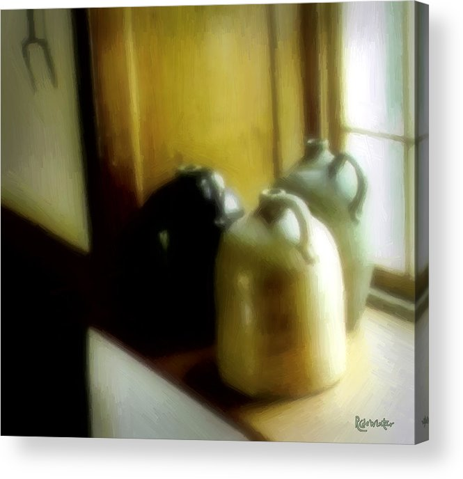 Antiques Acrylic Print featuring the digital art Still Life With Stoneware by RC DeWinter