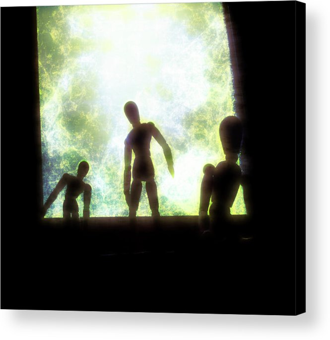 Mannequins Acrylic Print featuring the mixed media Intruders by Barry W King