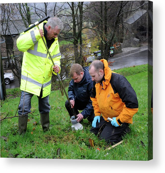 Human Acrylic Print featuring the photograph Environmental Soil Monitoring by Public Health England