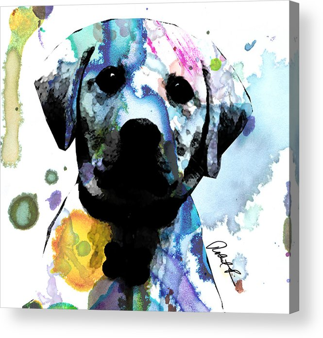 48x44 Labrador Puppy Dog Art- Huge Signed Art Abstract Paintings ...