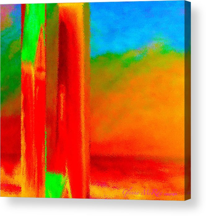 Abstract Acrylic Print featuring the painting Abstract Splendor II by Glenna McRae