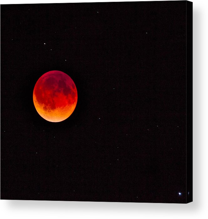 Moon Acrylic Print featuring the photograph Blood Moon by Mark Short