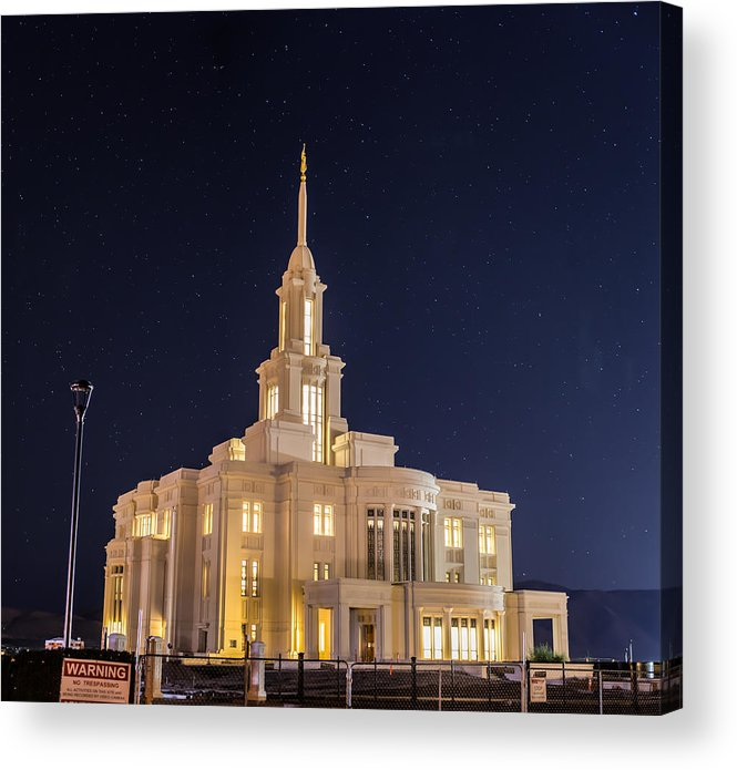 Payson Acrylic Print featuring the photograph Payson Utah Temple by David Hancock