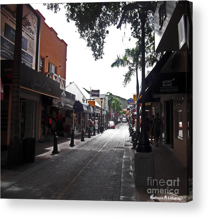 Saint Acrylic Print featuring the photograph Saint Thomas Shopping by Katherine Williams