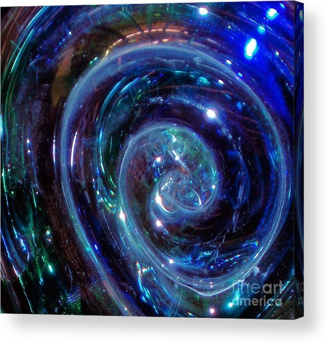 Blue Acrylic Print featuring the photograph Snail Shell by Tahlula Arts