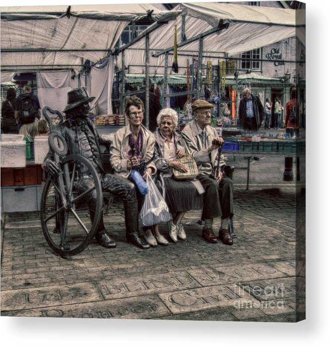 Advice For Seniors Acrylic Print featuring the photograph Which One Is The Statue by Doc Braham