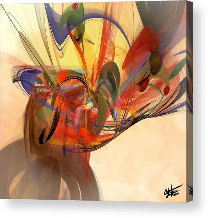 Digital Acrylic Print featuring the digital art Beautiful Chaos by Christy Leigh