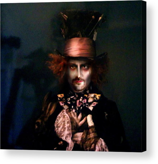 Mad Hatter Acrylic Print featuring the digital art Mad Hatter by Alessandro Della Pietra