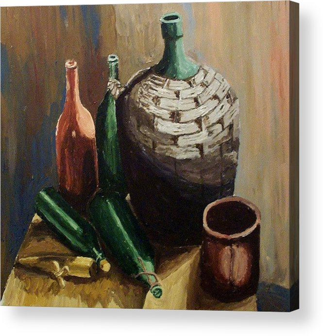 Still Life Acrylic Print featuring the painting A Still Life IIi by Mats Eriksson