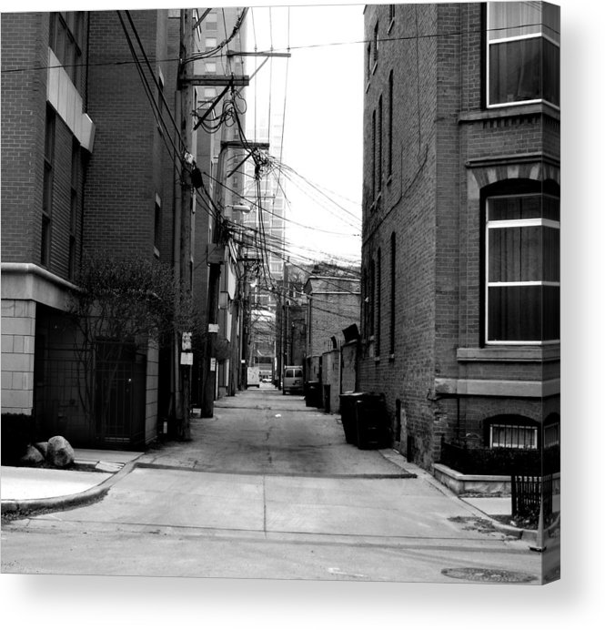 Alley Acrylic Print featuring the photograph Alleyway by Ryan Mathes