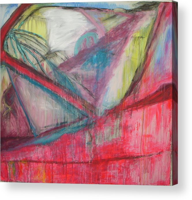Abstract Acrylic Print featuring the painting Car Crash Highway 21 by Moby Kane