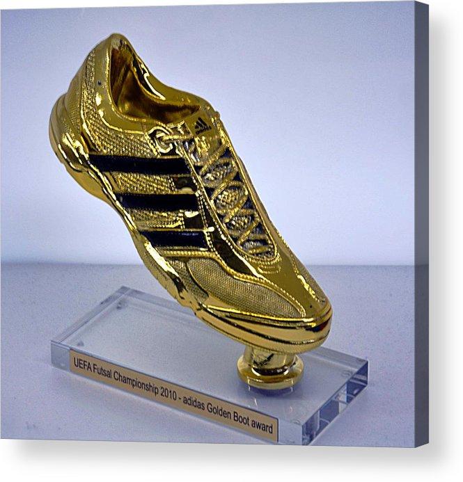0caffbff65989 Golden Acrylic Print featuring the photograph Golden Boot by John Hughes