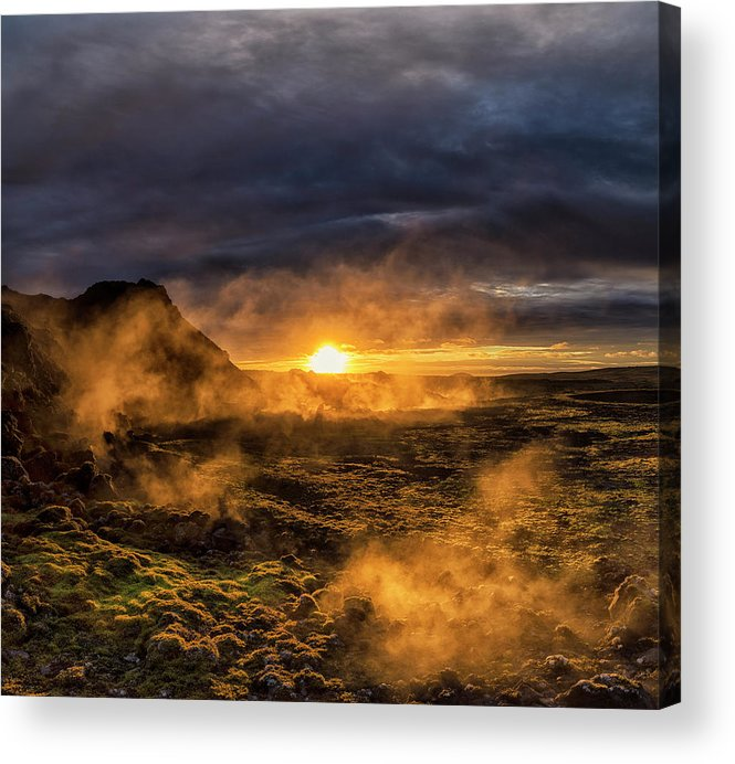 Iceland Acrylic Print featuring the photograph Land Of Fire And Ice by Bragi Kort