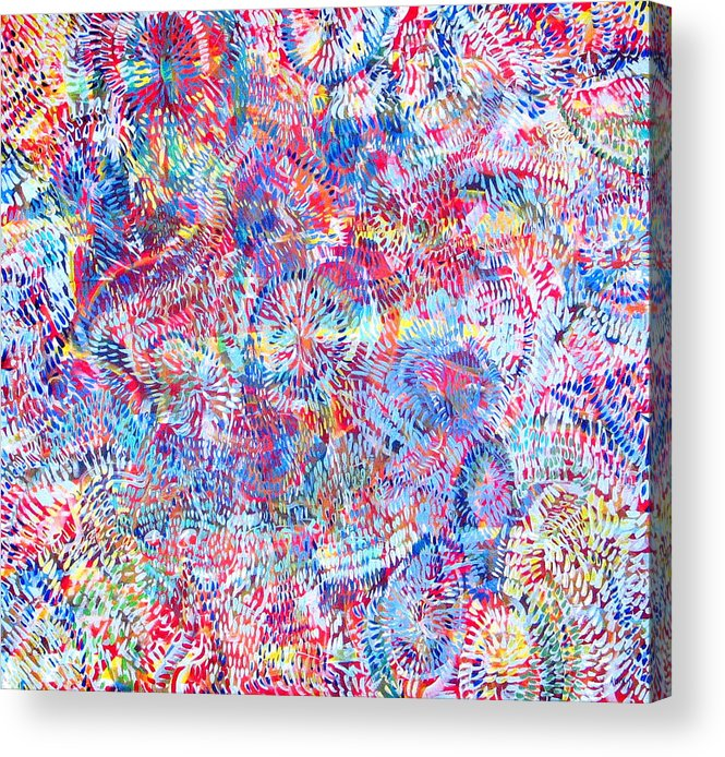 Universe Acrylic Print featuring the painting Microcosm by Rollin Kocsis