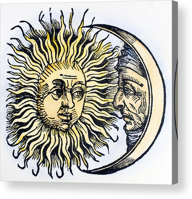 1493 Acrylic Print featuring the photograph Sun And Moon, 1493 by Granger