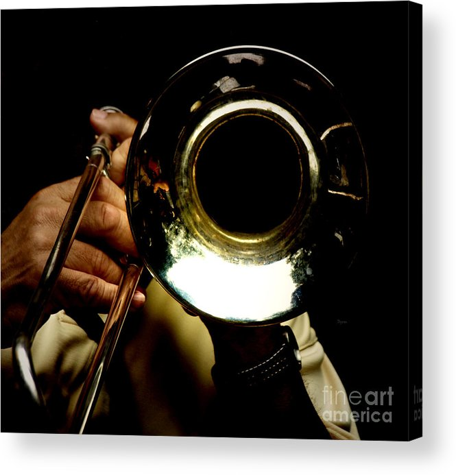 Trombone Acrylic Print featuring the photograph The Trombone  by Steven Digman