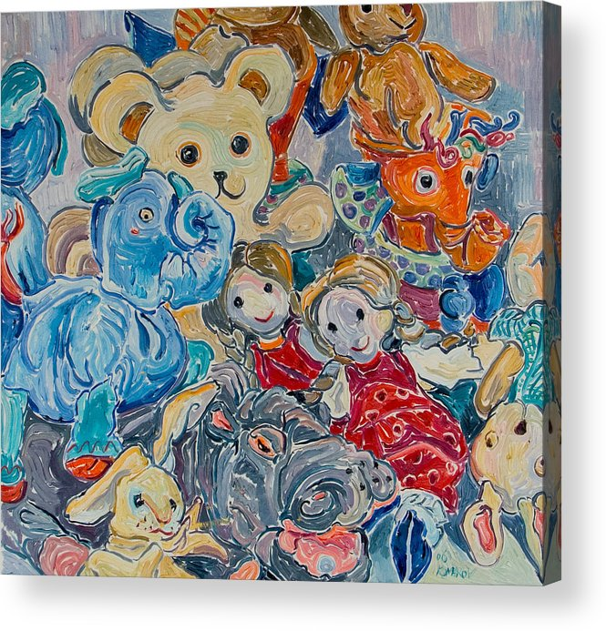 Toys Acrylic Print featuring the painting Toys by Vitali Komarov