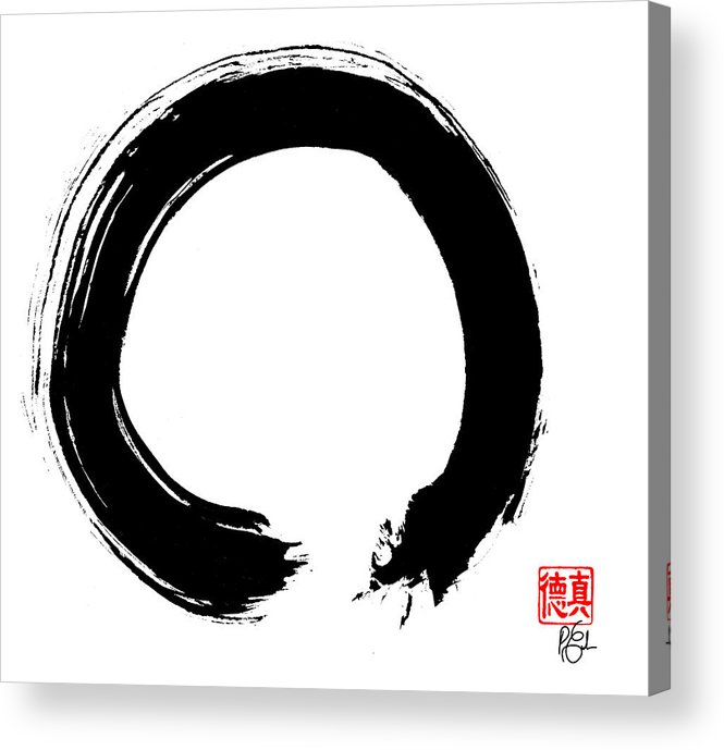 Enso Acrylic Print featuring the painting Zen Circle Five by Peter Cutler