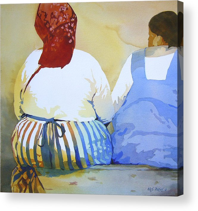 Kris Parins Acrylic Print featuring the painting Muchachas by Kris Parins
