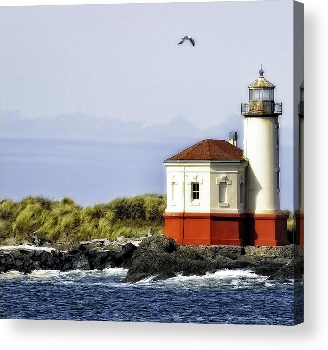 Bandon Acrylic Print featuring the photograph The Other Side Of The Coquille River by Image Takers Photography LLC - Laura Morgan