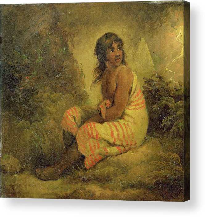 Xyc232011 Acrylic Print featuring the photograph Indian Girl by George Morland