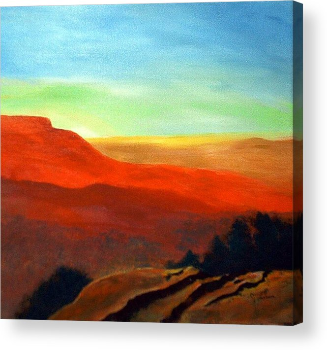 Landscape Acrylic Print featuring the painting Anew by Julie Lamons