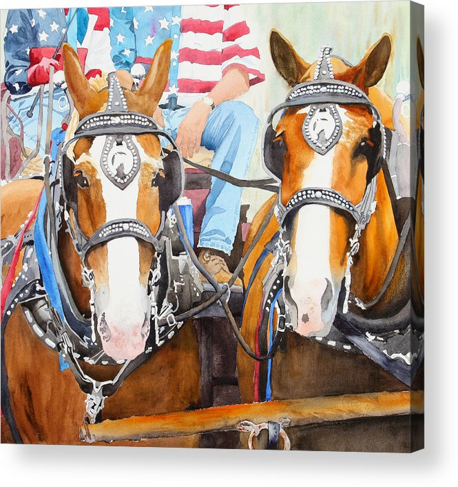 Belgian Acrylic Print featuring the painting Everybody Loves A Parade by Ally Benbrook