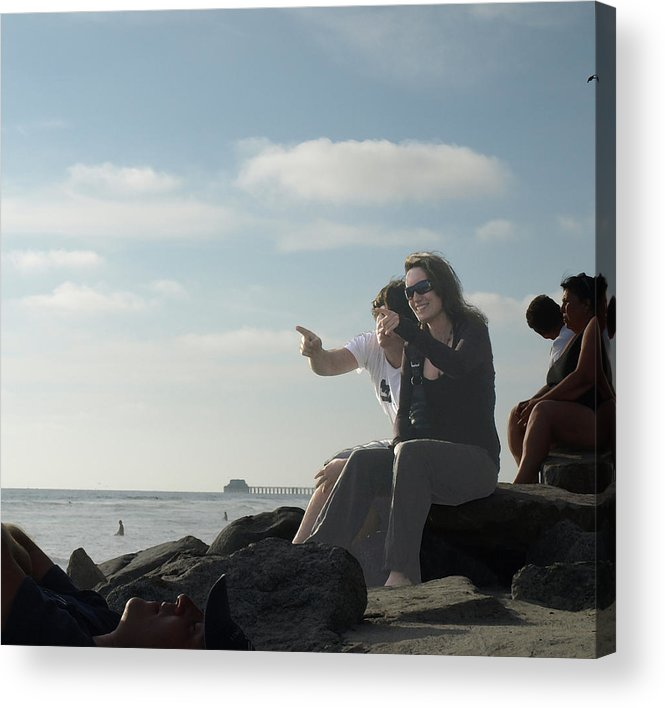 Beach Acrylic Print featuring the photograph Over There by Chuck Shafer