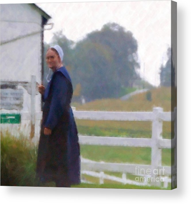 Amish Acrylic Print featuring the photograph Simple Living by Debbi Granruth