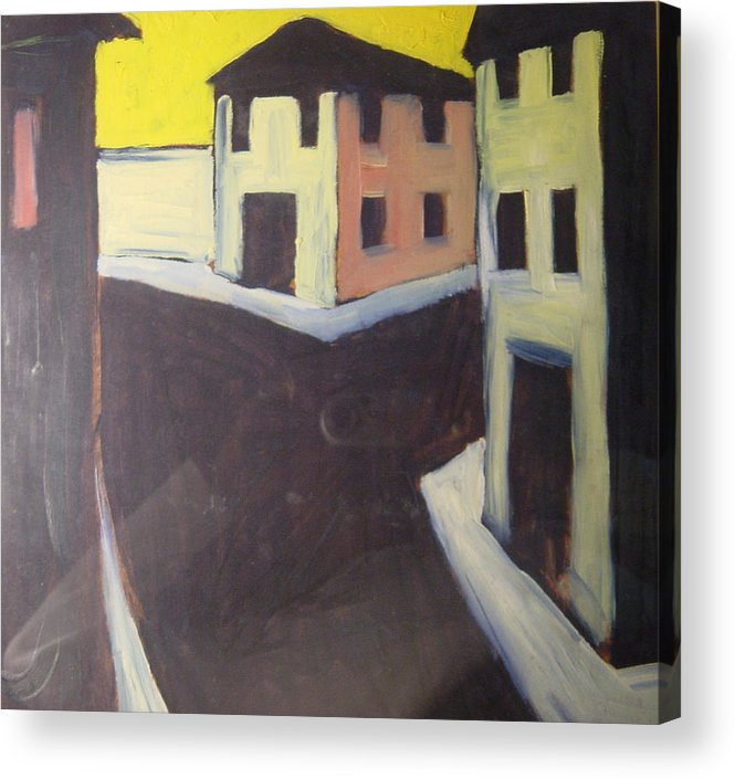 Acrylic Print featuring the painting Streets by Biagio Civale