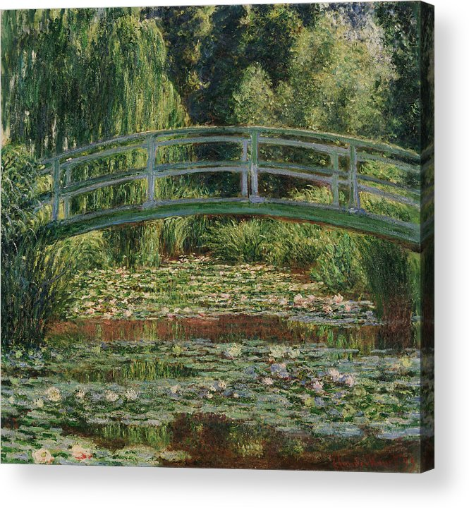 1899 Acrylic Print featuring the painting Monet Water Lily Pool, 1899 by Granger