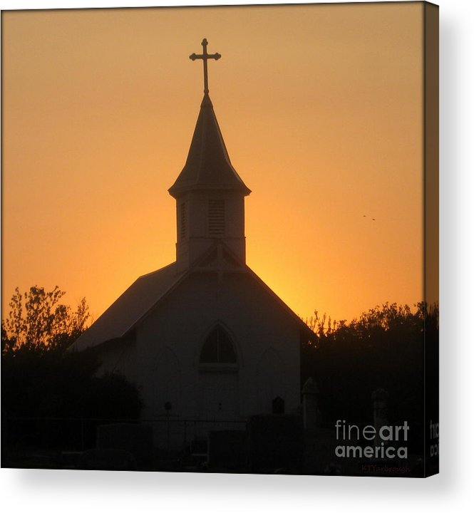 Church Acrylic Print featuring the photograph Country Church by Kim Yarbrough