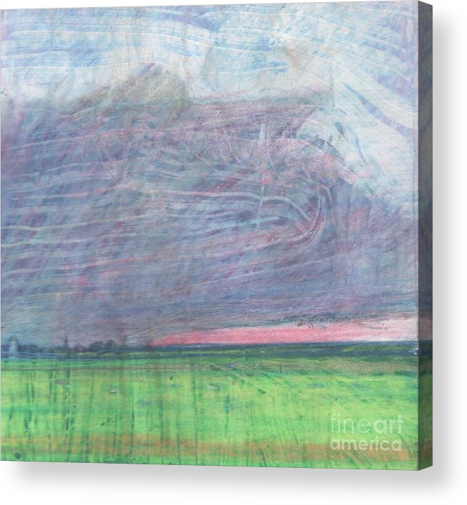 Pilling Acrylic Print featuring the drawing A View Towards Pilling by Andy Mercer