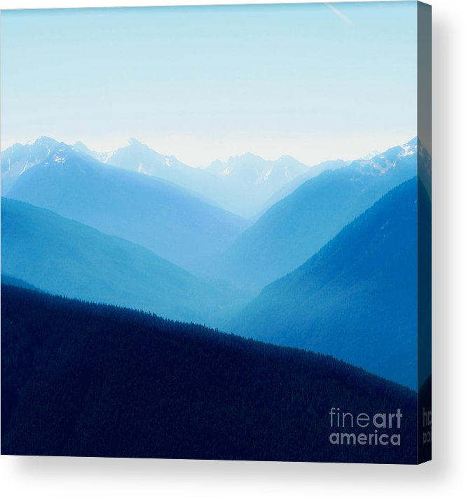 Infinity Acrylic Print featuring the photograph Blue Infinity by Idaho Scenic Images Linda Lantzy