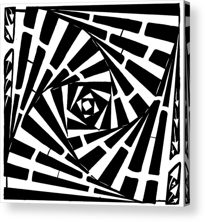 Box Acrylic Print featuring the drawing Box In A Box Maze by Yonatan Frimer Maze Artist