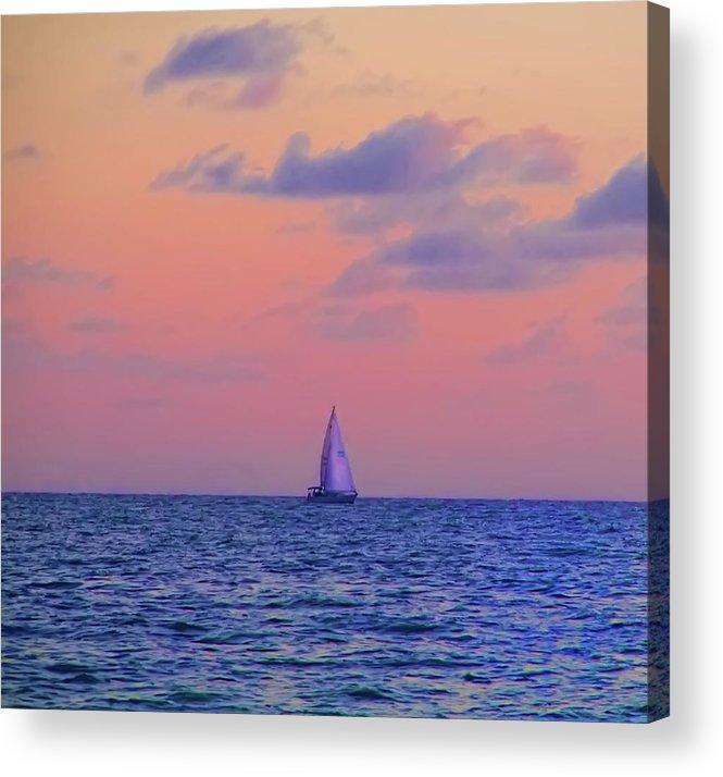 Gulf Acrylic Print featuring the photograph Gulf Coast Sailboat by Bill Cannon