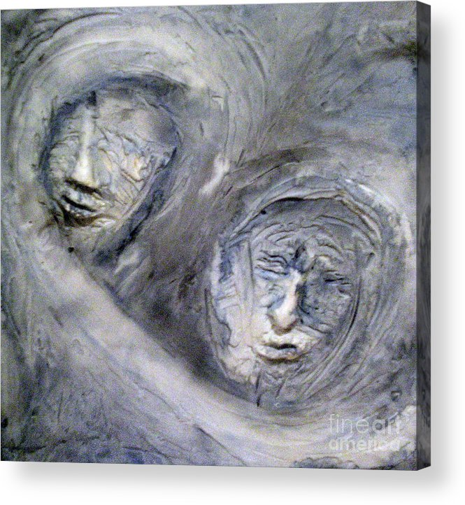 Portraits Acrylic Print featuring the painting In The Ice Storm by Kime Einhorn