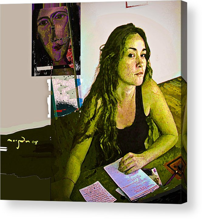 Gallery Acrylic Print featuring the mixed media Missing You by Noredin Morgan