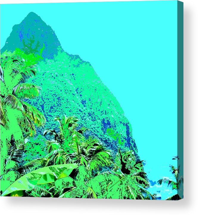 Pitons Acrylic Print featuring the photograph Pitons by Ian MacDonald