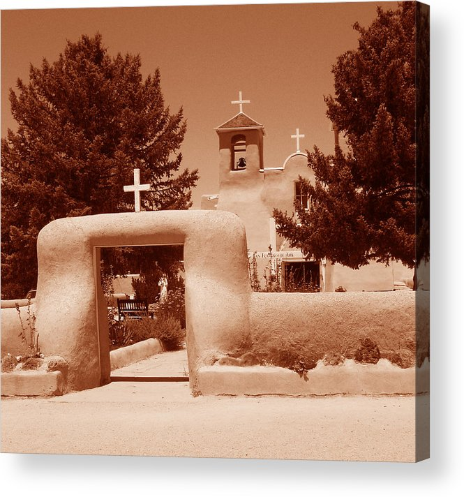 Church Acrylic Print featuring the photograph Ranchos De Taos Church  New Mexico by Wayne Potrafka