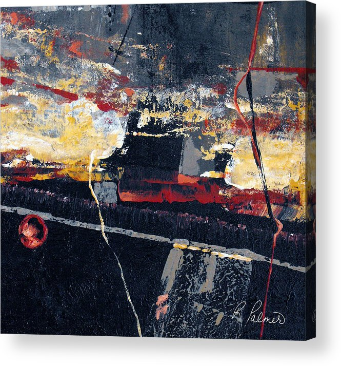 Abstract Acrylic Print featuring the painting The View by Ruth Palmer